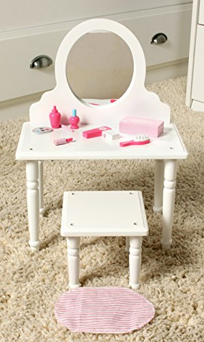 18 Inch Doll Furniture Bed And Vanity Set W Accessories Playtime By Eimmie Collection Beds