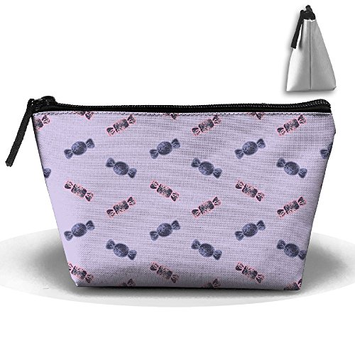 VIMUCIS Portable Printed Trapezoid Zippered Bag Colorful Candys Toiletry - Bella Shopping Thorne