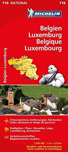 Michelin Belgien Luxemburg: Straßen- und Tourismuskarte (MICHELIN Nationalkarten, Band 716) Landkarte – 7. Februar 2012 2067170716 Karten / Stadtpläne / Europa Atlanten / Europa Reisekarten