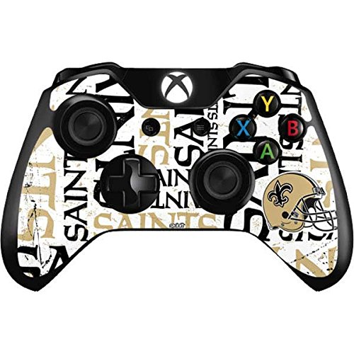Orleans New Saints Controller (Skinit New Orleans Saints - Blast Xbox One Controller Skin - Officially Licensed NFL Gaming Decal - Ultra Thin, Lightweight Vinyl Decal Protection)