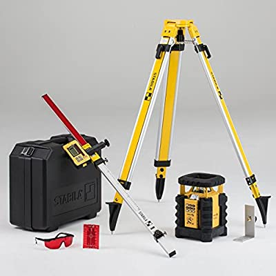 Stabila LAR350 Fully Self-Leveling Rotary Laser Kit Interior/Exterior Horizontal, Vertical Levelling, Dual-Slope, Section Mode, LED Assist, Manual Alignment, Motion Control and Plumb Lines