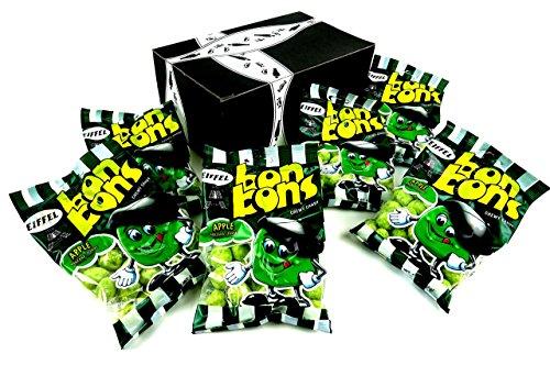 Eiffel Apple Bon Bons Chewy Candy, 4 oz Bags in a BlackTie Box (Pack of 6) - Bon Bons Apple