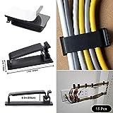 SOULWIT 134Pcs Cable Management Kit, 4 Cable Tubing