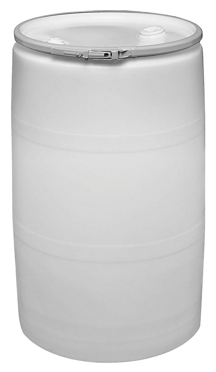 Transport Drum, Open Head, 55 gal., White