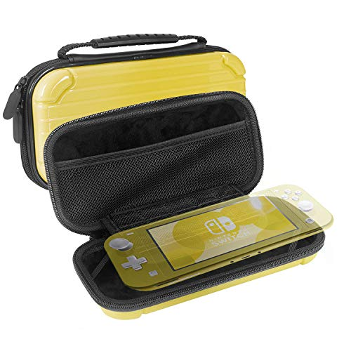 JALVDE Carrying Case for Nintendo Switch Lite, Travel Case Protective Hard Shell Portable Cover Shock Proof with 10 Game Card Cartridges Large Capacity Pouch (Case Shell Ds Nintendo)