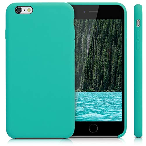 kwmobile TPU Silicone Case Compatible with Apple iPhone 6 Plus / 6S Plus - Soft Flexible Rubber Protective Cover - Turquoise
