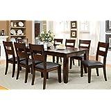 Furniture Of America Dallas 9Piece Transitional Dining Set, Dark Cherry