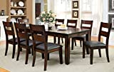 Solid Wood Dining Room Sets Furniture of America Dallas 9-Piece Transitional Dining Set, Dark Cherry