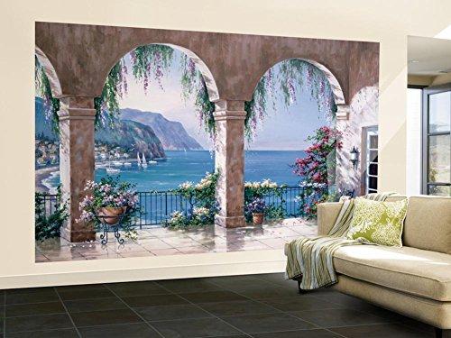 (Mediterranean Arch Wallpaper Mural)