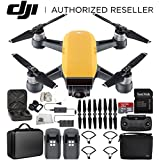 DJI Spark Portable Mini Drone Quadcopter Fly More Combo Portable Bag Shoulder Travel Case Bundle (Sunrise Yellow)
