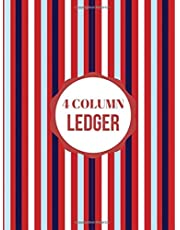 """4 Column Ledger: Accounting Register Log Book, Accounts Tracker Bookkeeping Notebook Journal for Business, Companies, financial & Office Use to Record ... 8.5"""" x 11"""" with 120 pages. (Ledger Notes)"""