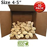 "4-5"" Premium Dog Bones –Chewing Dog Treat Made With The Best Rawhide 100% Natural - No Additives, Chemicals or Hormones – Natural Grass Fed in South America - USDA/FDA Approved"