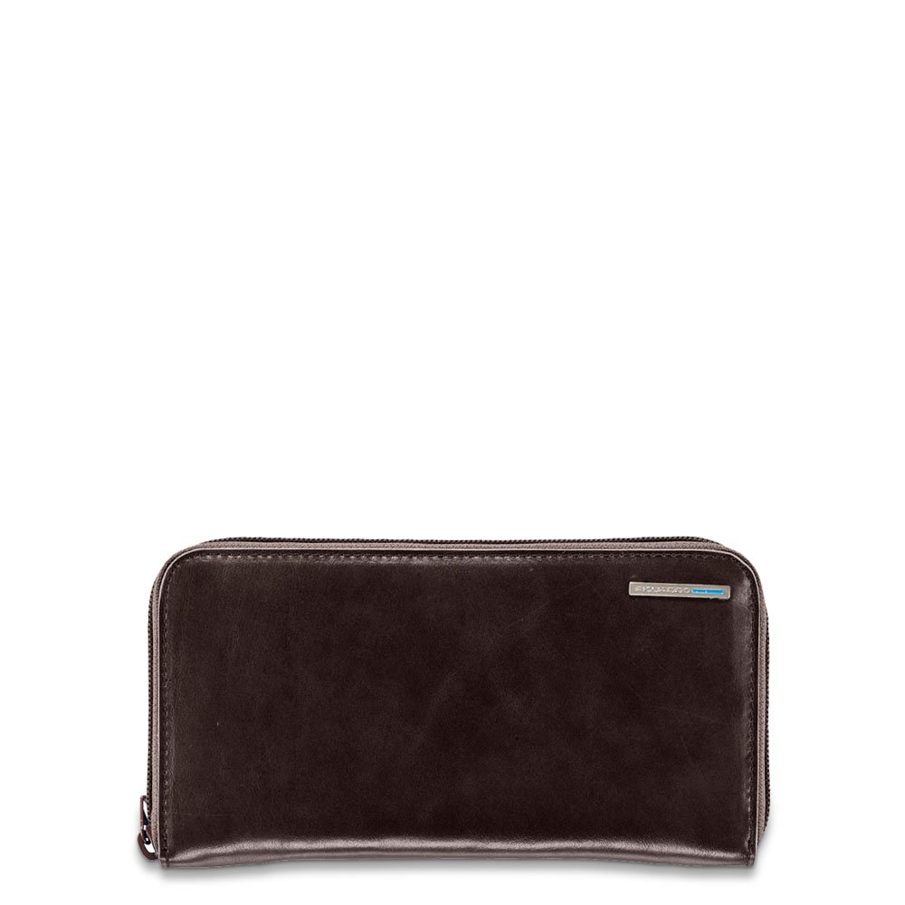 Piquadro Woman's Wallet In Leather, Mahogany, One Size