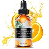 Vitamin C Serum - Top Influencer - Organic & Vegan - Packed With Hyaluronic Acid, Aloe, Jojoba Oil, Vitamin E & more - Good for Acne, Anti Wrinkle, Anti Aging, Fades Age Spots & Sun Damage