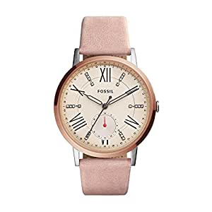 Fossil Women's ES4163 Gazer Multifunction Blush Leather Watch