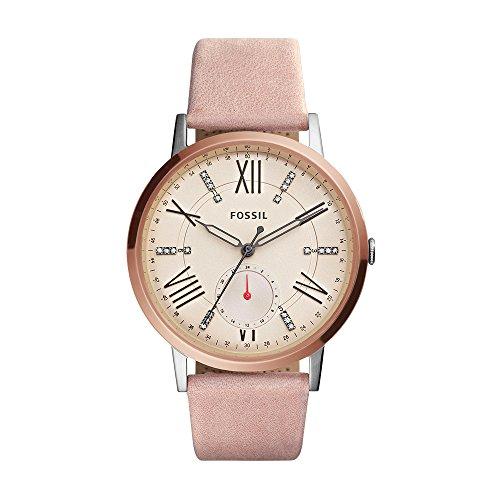 (Fossil Women's ES4163 Gazer Multifunction Blush Leather Watch)