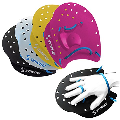 Synergy Hand Paddles for Swim Training (Clear, - Swim Paddle