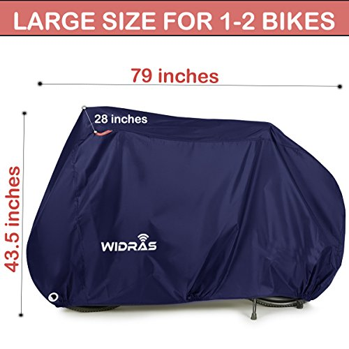 Widras Bicycle and Motorcycle Cover for Outdoor Storage Bike Heavy Duty Rip stop Material, Waterproof & Anti-UV Protection from All Weather Conditions for Mountain & Road Bikes by Widras (Image #1)