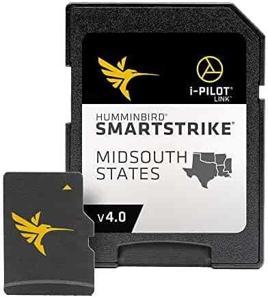 Humminbird LakeMaster Mid-South States Edition Digital GPS Lake Maps, Micro SD Card, Version 5