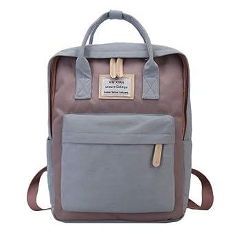 Amazon.com | Canvas Student School Bags Backpacks Teenage Girls Feminine Backpack Women Mochila Feminina Cute Pink blue | Backpacks