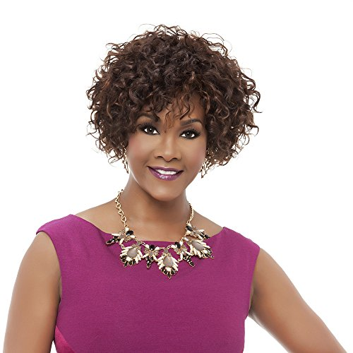 - Vivica A Fox HH-Whitney Premium Human Hair Pure Stretch Cap Wig, P4/27/30, 10.9 Ounce