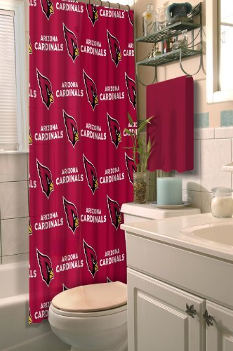 (Northwest NOR-1NFL903000080RET Arizona NFL 903 Cardinals Shower Curtain)