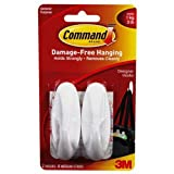 2x Command Medium Hooks with 4x Command Strips (17081)