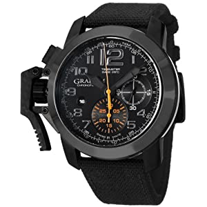 Graham Men's 2CCAU.B01A Chronofighter Analog Display Swiss Automatic Black Watch