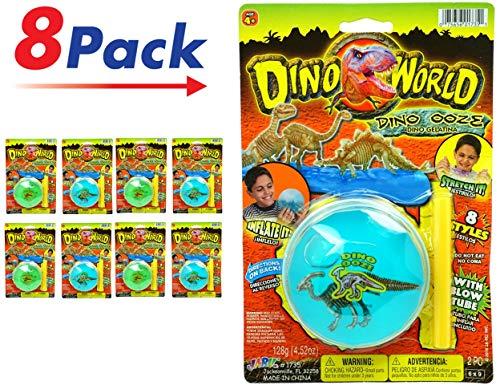 Putty Dinosaur Fossil - JA-RU Dino World Soft Inflatable Magic Slime (Pack of 8) Item #1735-8