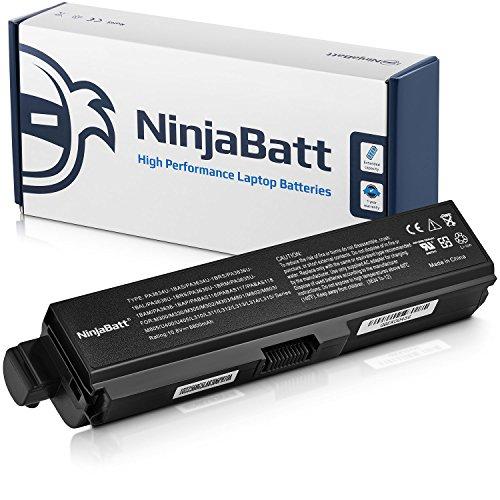 NinjaBatt 12 Cell Laptop Battery for Toshiba Satellite A665 PABAS228 PA3634U-1BRS PABAS227 PA3634U-1BAS PA3635U-1BRM PABAS116 PA3636U-1BRL PABAS230 – High Performance [8800 mAh/95 Wh] by NinjaBatt