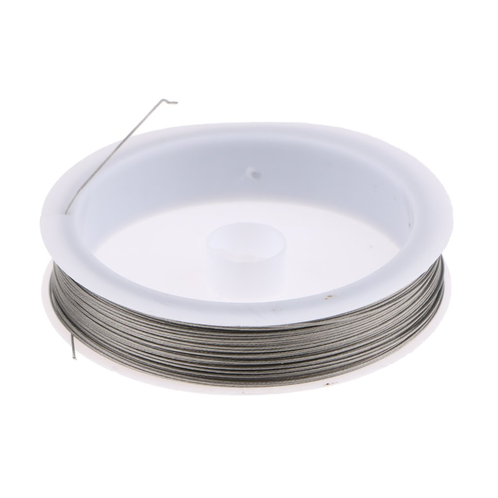 Curtain Beaded Pendant Welding Wires 70m-0.45mm Flameer 304 Steel Hanging Line Twisted Coil Clothesline Home DIY Building Material for Floral Wall Wreath Decor