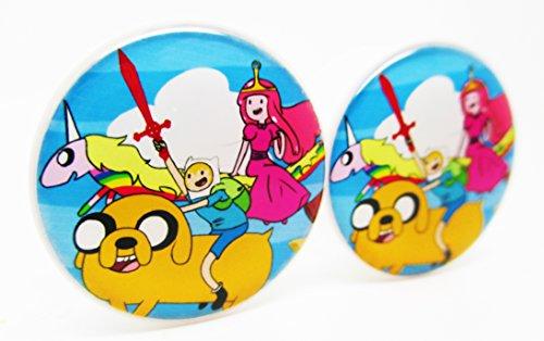Adventure Time - Cast Ear Plugs - Acrylic Screw-On - 10 Sizes - Brand NewPair (1/2