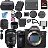 Sony ILCE7M3/B Alpha a7 III (A7M3) Mark 3 Mirrorless Digital Camera (Body Only) + Sony FE 100mm f/2.8 STF GM OSS Lens SEL100F28GM + 256GB SDXC Card Bundle