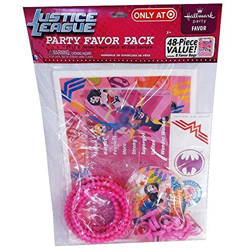 Justice League Girls 48pc Favor Kit (1ct) -