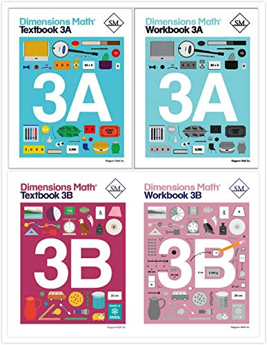 Dimensions Math Level 3 Kit (4 Books) -- Textbooks 3A and 3B, and Workbooks 3A and ()