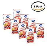 PACK OF 8 - Great Value Slider Zipper Food Storage Bags, Gallon, 60 Ct