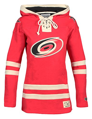NHL Carolina Hurricanes Women's Lacer Heavyweight Hoodie, Large, Red