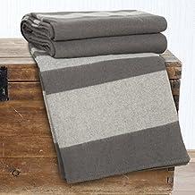 Lavish Home Australian Wool and Acrylic Full/Queen Blanket , Platinum
