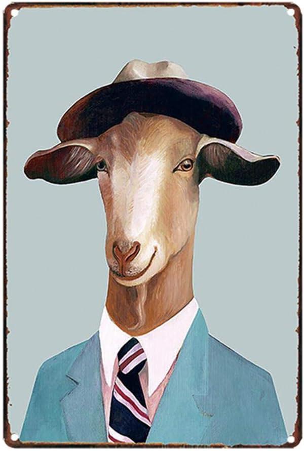 Artily Art Plaque Murale en m/étal Vintage Motif Animal pour Maison Bar Bureau caf/é