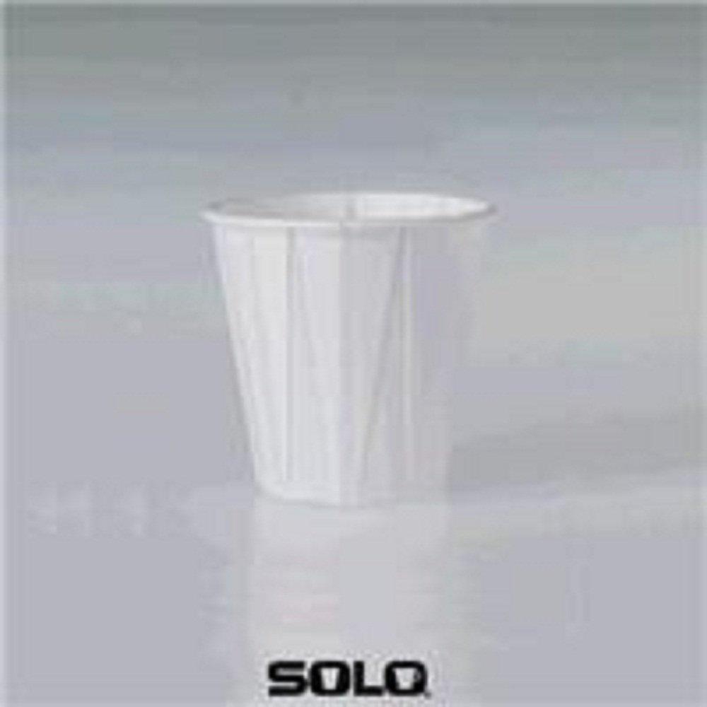 Dart Solo 44-2050 Bare Eco-Forward 3 oz. Wax Treated White Paper Cold Cup - 5000/Case