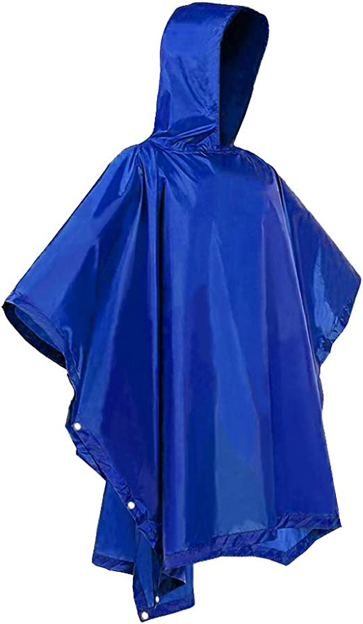 Adult Reusable Rain Jacket Raincoat Waterproof Rainwear One Size Fits Most