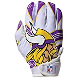 youth football gloves receiver - Franklin Sports NFL Minnesota Vikings Youth Receiver Gloves,White,Medium