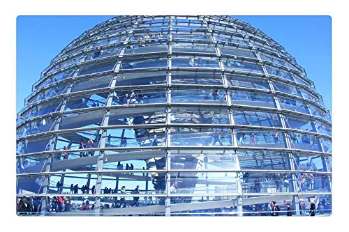 GTdgstdsc Indoor Floor Rug/Mat (23.6 x 15.7 Inch) - Reichstag Berlin Dome Capital Government District