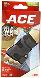 ACE Deluxe Wrist Brace, Left, Large/Extra Large