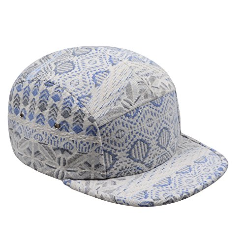 Hatphile Native 5 Panel Hat Camper Blue Gray