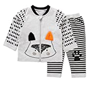 Baby Zip up Fox Terry Sweatshirt Jacket and Jogger Pant Set(66)