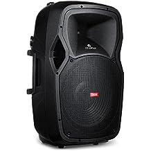 Owlee Condor Portable PA Speaker System with 2 Wireless Microphones, MP3/ USB/ SD/ FM Radio And Wireless Bluetooth, Powerful 360 Watt Stereo Sound Output, Flashing DJ Lights, Telescoping Handle