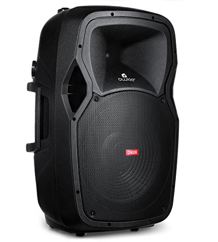 Owlee Condor Portable PA Speaker System with 2 Wireless Microphones, MP3/ USB/SD/ FM Radio and Wireless Bluetooth, Powerful 360 Watt Stereo Sound Output, Flashing DJ Lights, Telescoping Handle