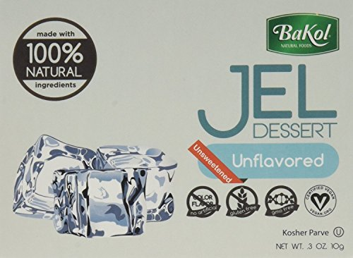Bakol Jel Dessert 0.3 oz. Vegan & All Natural - Pack of 3 (Unflavored)