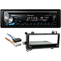 Pioneer DEH-X3900BT Single DIN Bluetooth In-Dash CD/AM/FM Car Stereo Receiver with Metra 70-1817 Radio Wiring Harness For Chrysler/Jeep 1984-06 and Metra 99-6000 Single DIN Installation Kit